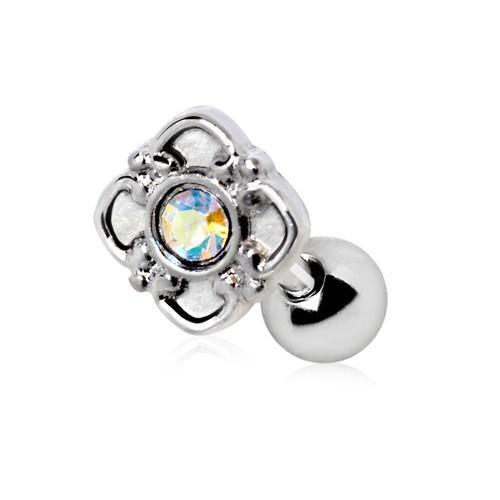 Aurora Flower Cartilage Bar-My Body Piercing Jewellery