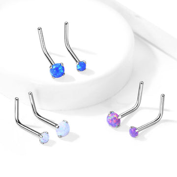 Prong Set Opal Nose L Bend 20G 18G