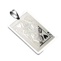 Queen Of Hearts Stainless Steel Pendant-My Body Piercing Jewellery