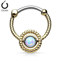 Braided Circle Septum Clicker 16G
