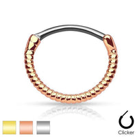 Gold Plated Twisted Septum Clicker 16G-My Body Piercing Jewellery