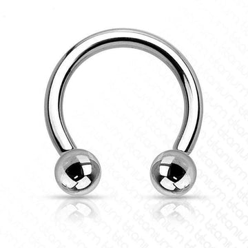 Solid Titanium Internally Threaded Horseshoe 16G 14G