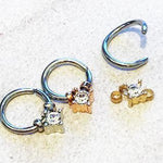 Gem Bead Ring 18G 16G-My Body Piercing Jewellery