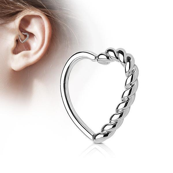 Braided Heart Ring 16G