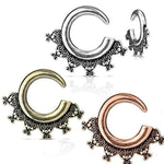 Antique Plated Spiral Hanger 16G-4G-My Body Piercing Jewellery