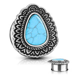 "Antique Turquoise Plug 2G-1""-My Body Piercing Jewellery"