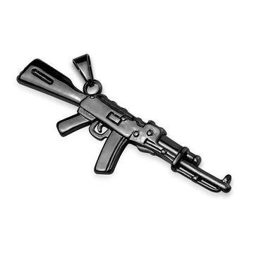 Rifle Stainless Steel Pendant