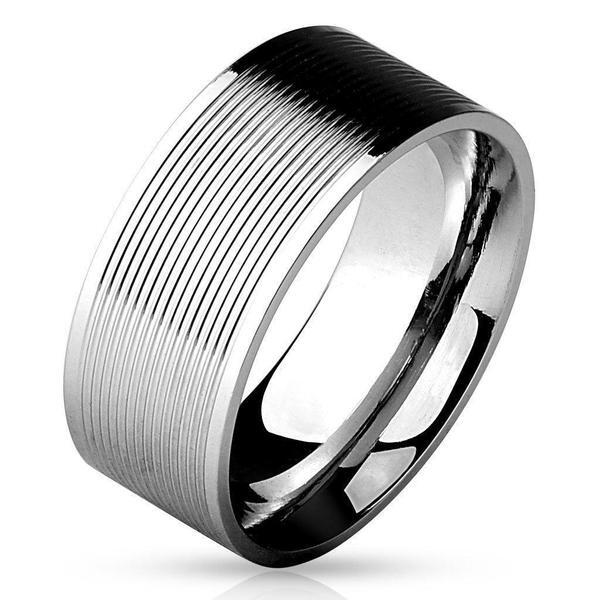 Grooved Lines Ring-My Body Piercing Jewellery