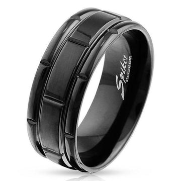 Black Box Grooved Ring
