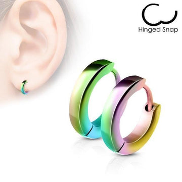 Small Domed Huggies Earrings Pair