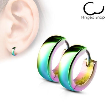 Domed Huggies Earrings Pair