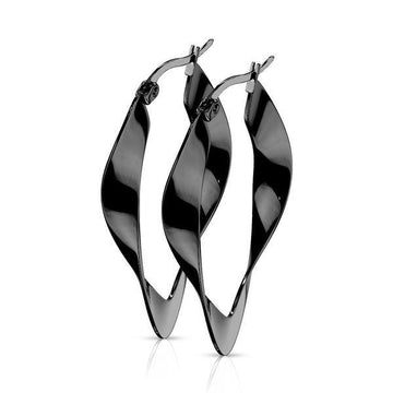Twisted Oval Earrings Pair