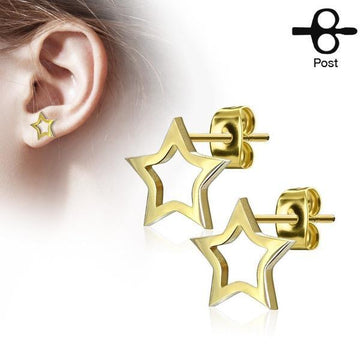 Hollow Star Earrings Pair
