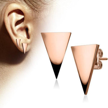Triangle Earrings Pair