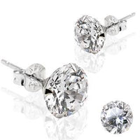 14kt White Gold Martini Stud Earring PAIR-My Body Piercing Jewellery