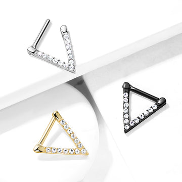 Triangle Paved Septum Clicker 16G
