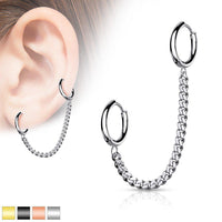 Chain Double Clicker Ring 18G-My Body Piercing Jewellery