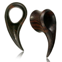 Areng Wood Drop Plug PAIR 8mm-16mm-My Body Piercing Jewellery