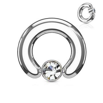 Large Gauge Captive Ring 12G-2G