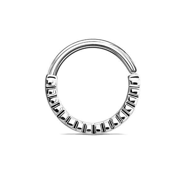 Grooved Ring 16G