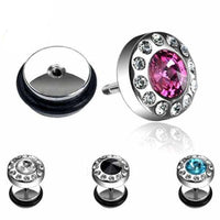 Gem Fake Plug-My Body Piercing Jewellery