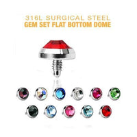 Dome Gem Dermal Top 14G-My Body Piercing Jewellery