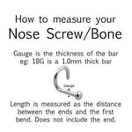 Bioflex Gem Nose Screw 20G