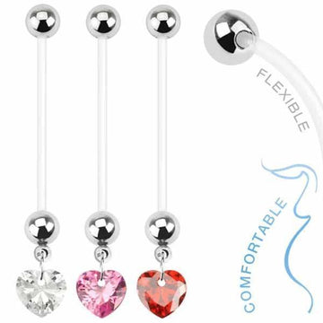 Heart Pregnancy Belly Bar 14G