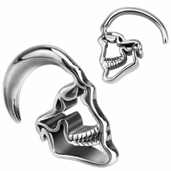 Hanging Skull Ear Weights PAIR-My Body Piercing Jewellery