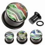 Shell Inlay Plug 6mm-16mm-My Body Piercing Jewellery
