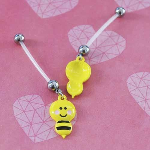 Bumble Bee Pregnancy Belly Bar 14G