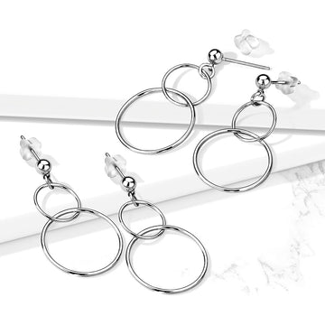 Double Hoop Earrings Pair