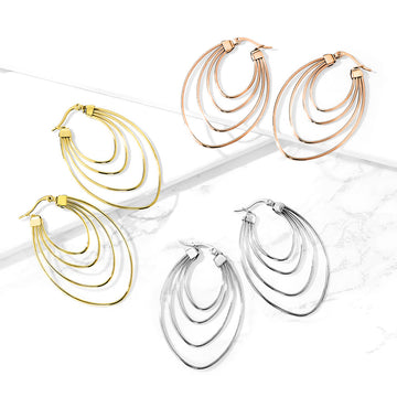 Multi Oval Earrings Pair