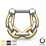 Link Chain Septum Clicker 16G-My Body Piercing Jewellery