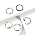 Solid Titanium Fixed Ball Nose Ring 20G 18G