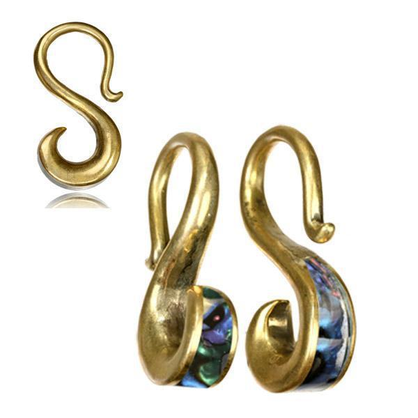 Abalone Ear Weights PAIR-My Body Piercing Jewellery