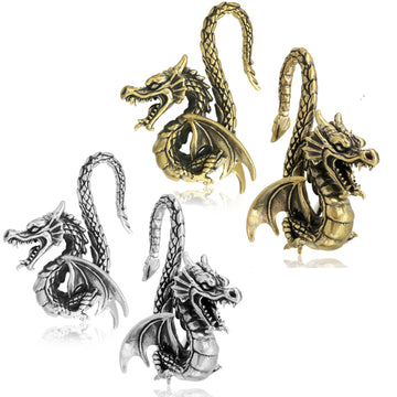 Brass Dragon Ear Weights PAIR