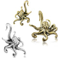 Brass Octopus Ear Weights PAIR