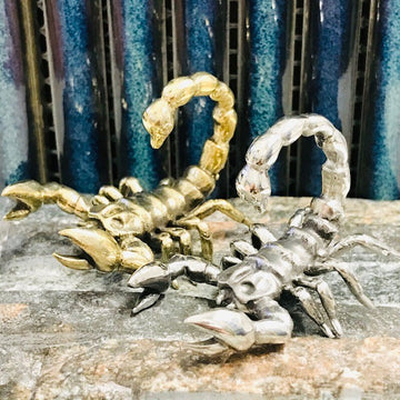 Brass Scorpion Ear Weights PAIR
