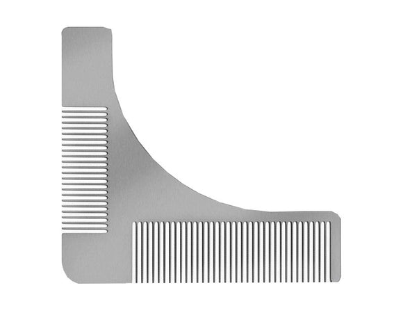 Premium Stainless Steel Beard Template & Comb, Combs / Brushes / Trimmers, THEFINEBEARD, THEFINEBEARD