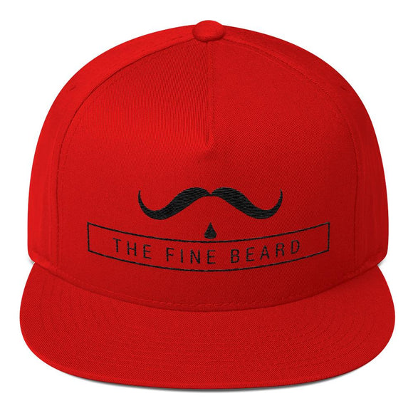 Flat Bill Cap - SuperStache model, Cap, THEFINEBEARD, THEFINEBEARD
