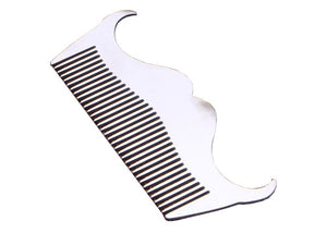 Stainless Steel Beard Comb - Innovative design !, Combs / Brushes / Trimmers, THEFINEBEARD, THEFINEBEARD