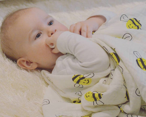 Bumble Bee Bamboo swaddle