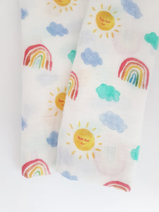 Rainbow Bamboo Swaddle/Large Muslin