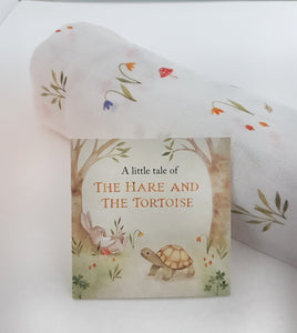 Forest- Single Swaddle/Large Muslin {Hare and Tortoise Collection}with the Little Book