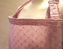 Millennial Pink Broderie Anglaise (Embroidered Cotton) Nursing Cover/Breastfeeding cover