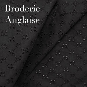 Midnight Black Broderie Anglaise nursing cover