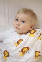 Leonard the Lion Bamboo Muslin Swaddle   {The Aesop's Fables Collection ®-  The Lion and the Fox}