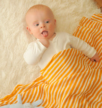 Tangerine Stripes Swaddle