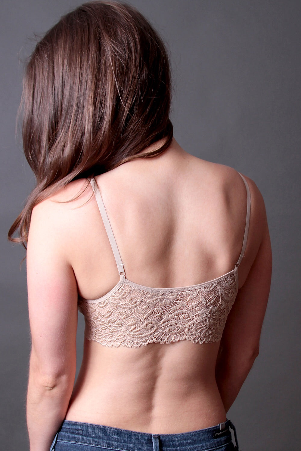 Lace Back Scoopneck Regular Size